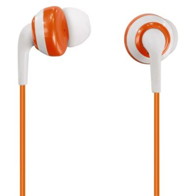 donut in ear stereo ohrh rer papaya farbe orange weiss. Black Bedroom Furniture Sets. Home Design Ideas