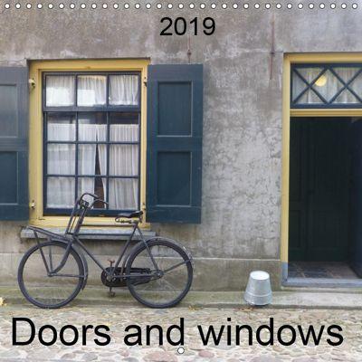 Doors and windows (Wall Calendar 2019 300 × 300 mm Square), k.A. SchnelleWelten