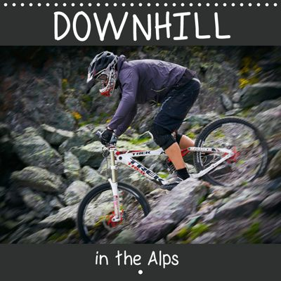 Downhill in the Alps (Wall Calendar 2019 300 × 300 mm Square), Dirk Meutzner