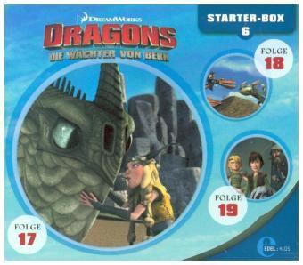Dragons - Die Wächter von Berk - Starter-Box, 3 Audio-CD, Dragons-Die Wächter Von Berk