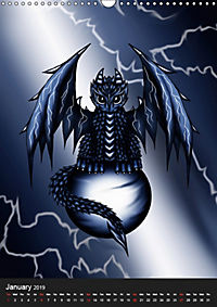 Dragons (Wall Calendar 2019 DIN A3 Portrait) - Produktdetailbild 1