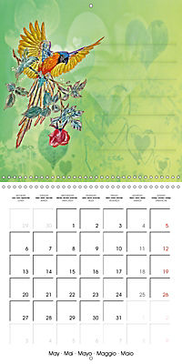 Drawings for notes (Wall Calendar 2019 300 × 300 mm Square) - Produktdetailbild 5