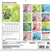 Drawings for notes (Wall Calendar 2019 300 × 300 mm Square) - Produktdetailbild 13