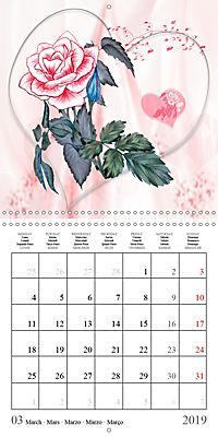 Drawings of Rose Fantasies (Wall Calendar 2019 300 × 300 mm Square) - Produktdetailbild 3
