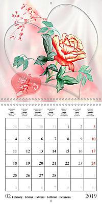 Drawings of Rose Fantasies (Wall Calendar 2019 300 × 300 mm Square) - Produktdetailbild 2