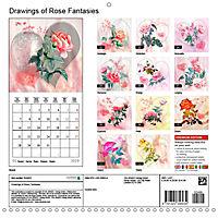 Drawings of Rose Fantasies (Wall Calendar 2019 300 × 300 mm Square) - Produktdetailbild 13