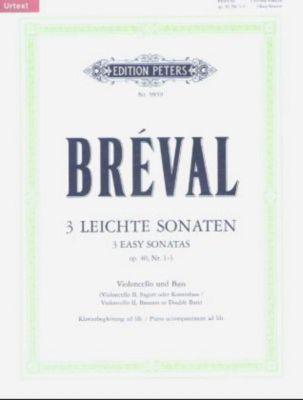 Drei leichte Sonaten für Violoncello und Bass, op.40, 1-3, Jean B. Breval