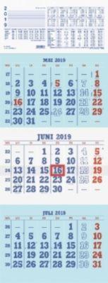 Dreimonatskalender 'Kombiplaner' (Nr. 952-0000-1) 2019