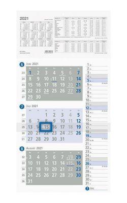Dreimonatskalender 'Kombiplaner' (Nr. 957-007) 2019