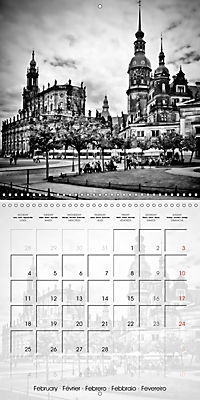 DRESDEN Monochrome Highlights (Wall Calendar 2019 300 × 300 mm Square) - Produktdetailbild 2