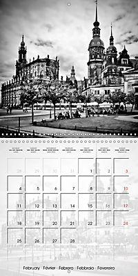 DRESDEN Monochrome Highlights (Wall Calendar 2019 300 × 300 mm Square) - Produktdetailbild 2