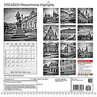 DRESDEN Monochrome Highlights (Wall Calendar 2019 300 × 300 mm Square) - Produktdetailbild 13