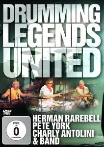 Drumming Legends United, Herman Rarebell, Pete York, Charly Antolini