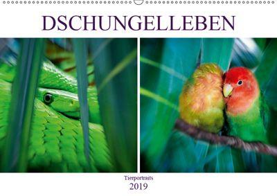 Dschungelleben - Tierportraits (Wandkalender 2019 DIN A2 quer), Liselotte Brunner-Klaus