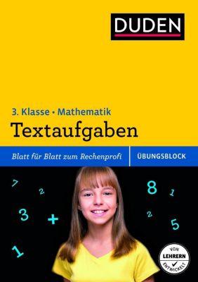 Duden Einfach klasse in Mathematik, Übungsblock: Textaufgaben, 3. Klasse