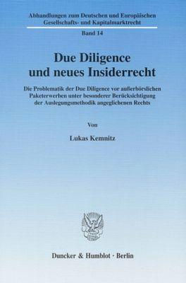 Due Diligence und neues Insiderrecht, Lukas Kemnitz
