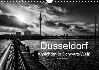 Düsseldorf Ansichten in Schwarz-Weiss (Wandkalender 2019 DIN A4 quer), Klaus Hoffmann