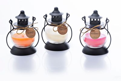 Duftkerzen in Mini-Laterne, 3er-Set