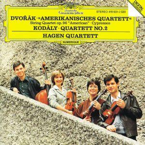 Dvorák: String Quartet No.12 American, Cypresses / Kodály: String Quartet No.2, Hagen Quartett
