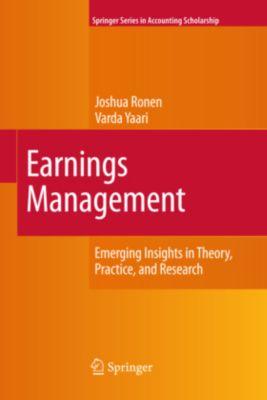 Earnings Management, Joshua Ronen, Varda Yaari