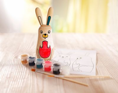 Easter Bunny Painting Kit - Oster-Malset Hase