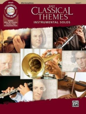 Easy Classical Themes Instrumental Solos, Alto Saxophone, w. Audio-CD, Alfred Music