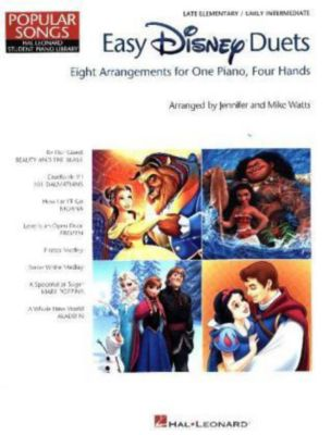 Easy Disney Duets: Eight Arrangements, For One Piano, Four Hands, Various