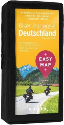 EASY MAP Biker-Kartenset Deutschland