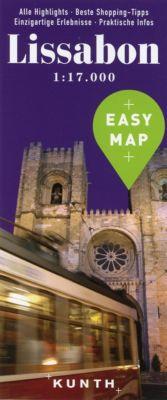 EASY MAP Lissabon 1:17.000 - KUNTH Verlag  