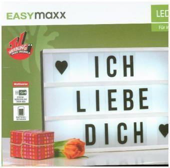 easymaxx led leuchtkasten 9v schwarz weiss mit 173 buchstaben symbole. Black Bedroom Furniture Sets. Home Design Ideas