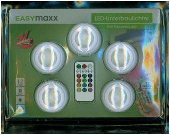 EASYmaxx LED-Lichter mit Farbwechsel 5-tlg. 1W weiß mit Fernbedienung