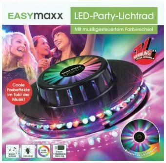 EASYmaxx LED-Lichtrad Galaxy 5W schwarz