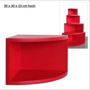 eck regal matt rot 30 x 30 cm bestellen. Black Bedroom Furniture Sets. Home Design Ideas