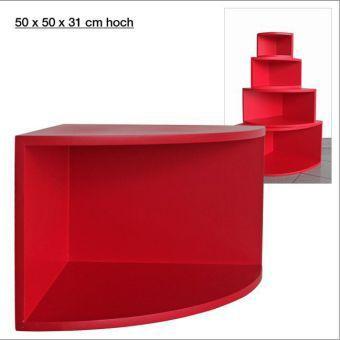 eck regal matt rot 50 x 50 cm jetzt bei. Black Bedroom Furniture Sets. Home Design Ideas