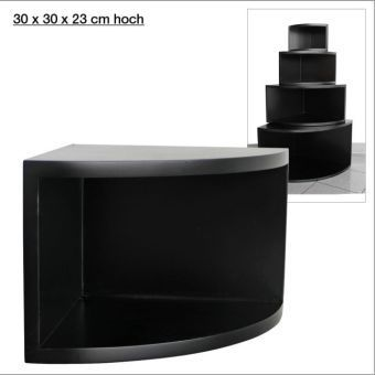 eck regal matt schwarz 30 x 30 cm bestellen. Black Bedroom Furniture Sets. Home Design Ideas