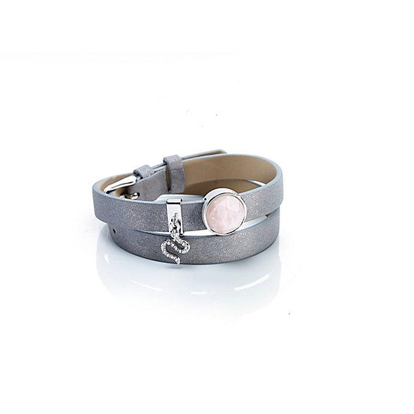 Edelstein-Wickelarmband Farbe: Taupe Bestellen