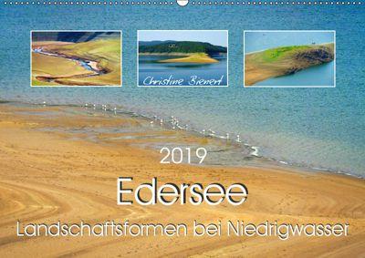 Edersee - Landschaftsformen bei Niedrigwasser (Wandkalender 2019 DIN A2 quer), Christine Bienert