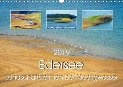 Edersee - Landschaftsformen bei Niedrigwasser (Wandkalender 2019 DIN A3 quer), Christine Bienert
