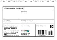 EDINBURGH. Blick. Licht. Wetter. (Tischkalender 2019 DIN A5 quer) - Produktdetailbild 13