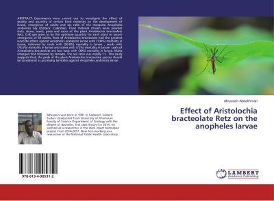 Effect of Aristolochia bracteolate Retz on the anopheles larvae, Alhussein Abdalrhman