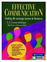 Effective Communication, Albin Bowler, Donavon Goliath, L. Erasmus-Kritzinger