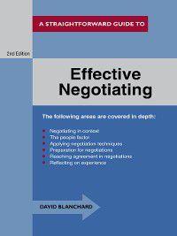 Effective Negotiating, David Blanchard