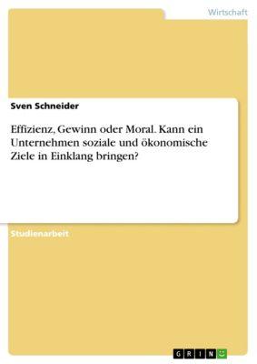 Effizienz, Gewinn oder Moral. Kann ein Unternehmen soziale und ökonomische Ziele in Einklang bringen?, Sven Schneider