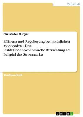 Effizienz und Regulierung bei natürlichen Monopolen - Eine institutionenökonomische Betrachtung am Beispiel des Strommarkts, Christofer Burger