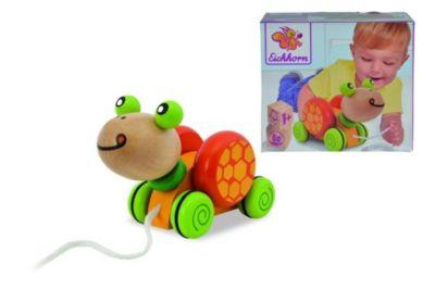 Beeboo Nachzieh-Schildkröte mit Stapelringen Holzspielzeug