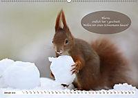 Eichhörnchen - Lustige Kurzgeschichten mit den quirligen Wildtieren (Wandkalender 2019 DIN A2 quer) - Produktdetailbild 1