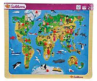 Eichhorn Steckpuzzle Weltkarte, 13-tlg. - Produktdetailbild 2
