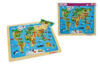 Eichhorn Steckpuzzle Weltkarte, 13-tlg. - Produktdetailbild 1