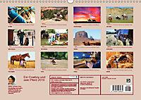 Ein Cowboy und sein Pferd 2019. Impressionen von Mann und Tier (Wandkalender 2019 DIN A3 quer) - Produktdetailbild 13