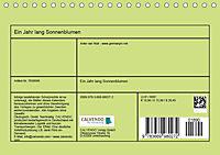Ein Jahr lang Sonnenblumen (Tischkalender 2019 DIN A5 quer) - Produktdetailbild 13